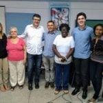Rosi Farias, D. Judira, Robson Leite, Pe. José Antonio, D. Zezé, Gabriel Rezende, e Ana Maria