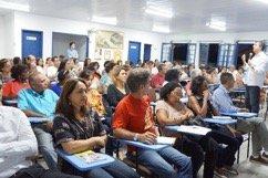 Centro paroquial lotado para o treinamento da CF 2018